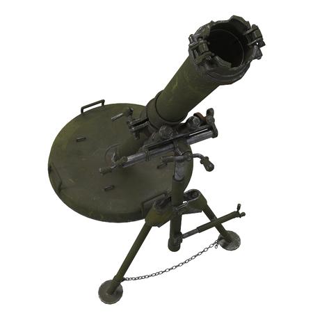 The 120-mm mortar cannon gun 2B11 . 3d illustration Banque d'images - 117679817