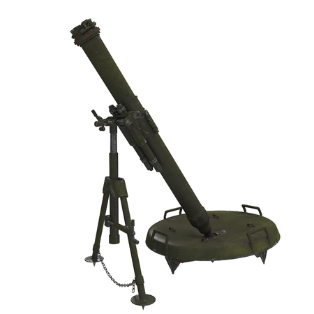 The 120-mm mortar cannon gun 2B11 . 3d illustration Banque d'images - 117679818