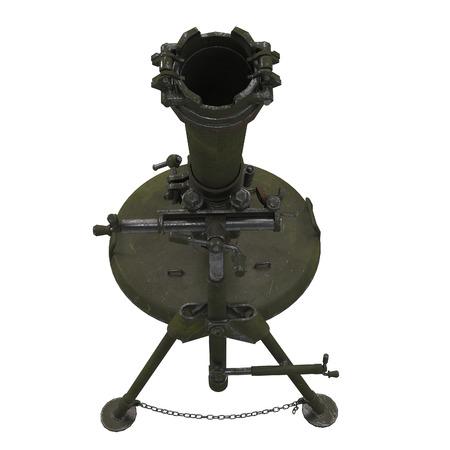 The 120-mm mortar cannon gun 2B11 on white background. 3d illustration Reklamní fotografie