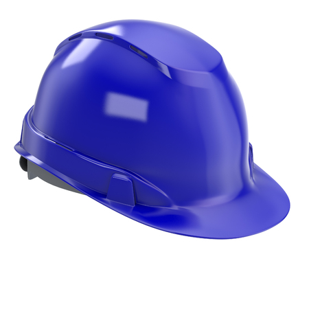 construction helmet blue on an isolated background. 3d illustration Banque d'images - 122262966