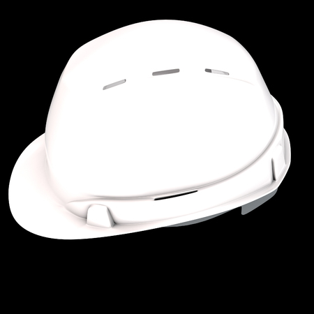 construction helmet white on an isolated background. 3d illustration Banque d'images - 122262969