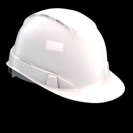 construction helmet white on an isolated background. 3d illustration Banque d'images - 122262970