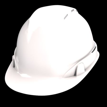 construction helmet white on an isolated background. 3d illustration Banque d'images - 122262971