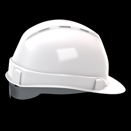 construction helmet white on an isolated background. 3d illustration