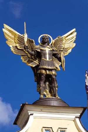 Archangel Michael Sculpture at Independence Square Ukraine Éditoriale
