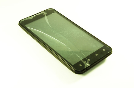 breakage: broken phone Stock Photo