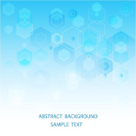 Vector Abstract science Background. Hexagon geometric design. Vetores