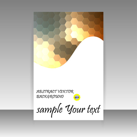 artful: modern tri-fold brochure template design with colorful hexagon elements Illustration