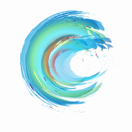 Business Abstract Circle icon. vector icon design template for Corporate, Media, Technology style. Vektoros illusztráció