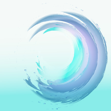 blue waves vector: abstract background abstract light blue waves vector illustration Illustration