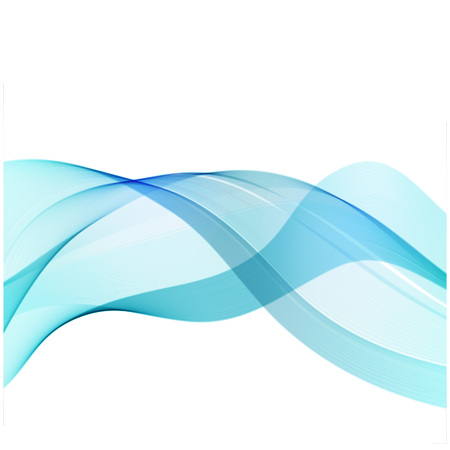 blue smoke: Vector abstract wave blue smoke on white Illustration