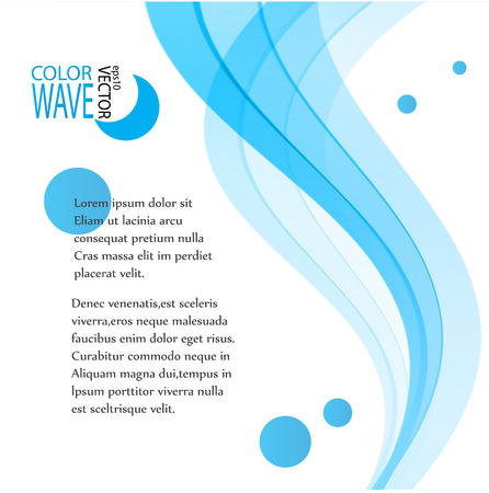 abstract waves background: Abstract blue background Blue smooth waves and circles.