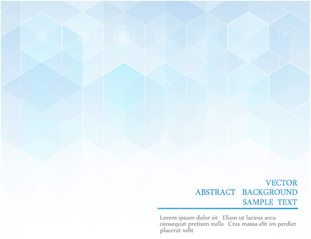 page background: Vector Abstract Geometric Background Design Template Booklet Form, blue hexagon