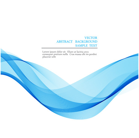 Vector Blue wave over white background Abstract 矢量图像