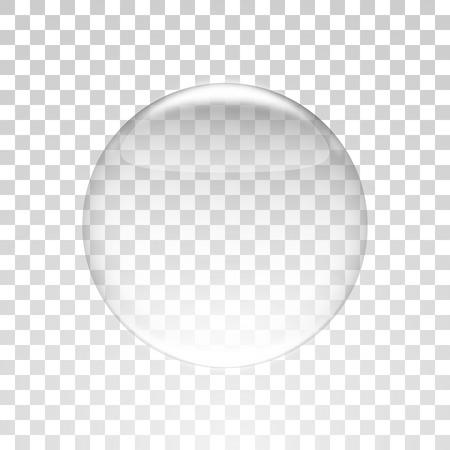 boll: Glass boll sphere Vector illustration