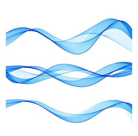 blue waves vector: Set of abstract blue waves. Vector illustration