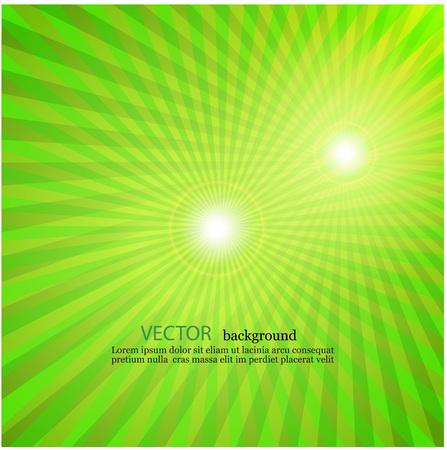 resplandor: rayos de luz de la estrella verde fondo de la vendimia televisión estallar Vectores