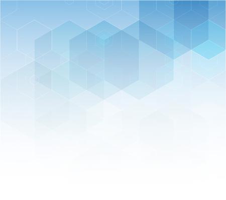 blue hexagon abstract background template design vector