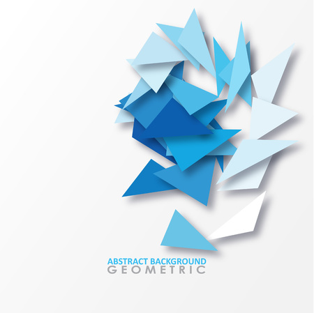 Abstract geometric background consisting of triangles. Vector illustration