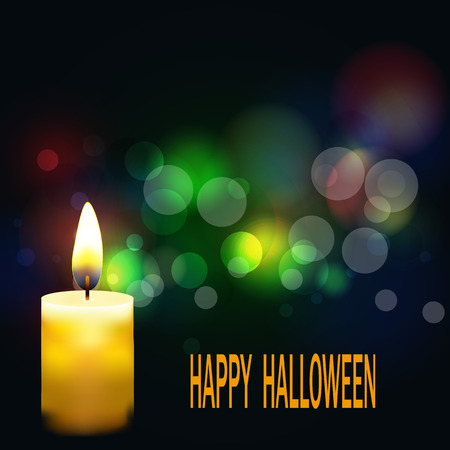 Bright Halloween background. Beavertail background and the candle