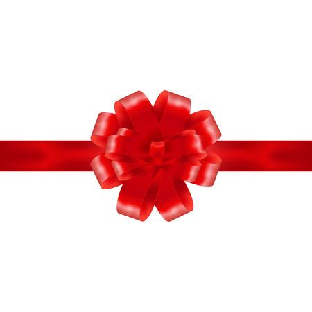 Red Band mit Schleife auf weißen Hintergrund Vektor-Illustration