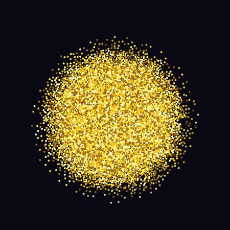 privilege: Gold sparkles on black background. Gold glitter background. Gold background for card, vip, exclusive, certificate, gift, luxury, privilege voucher store present shopping Illustration