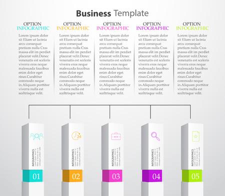 Infographic Columns Vector illustration 矢量图像