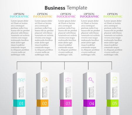Infographic Columns Vector illustration Illustration