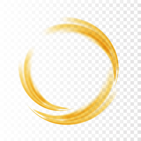 green swirl: Abstract swirl energy circle Green element design wave Illustration
