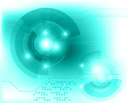 Abstract tech background with transparent objects. Vector background Illustration