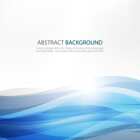 Abstract Design Creativity Pattern of Blue Waves Ilustração