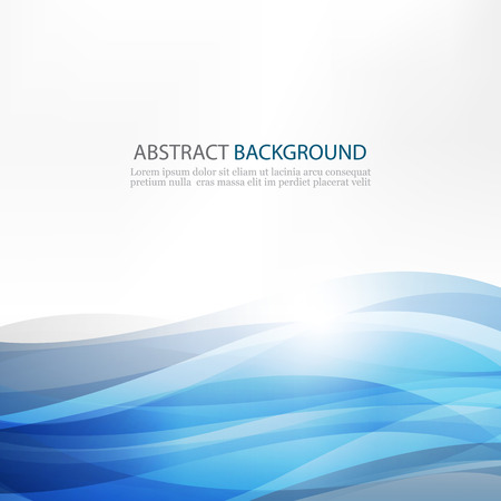 Abstract Design Creativity Pattern of Blue Waves Illustration