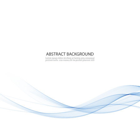 Abstract vector background, blue waved lines for brochure, website design. Transparent wave.Vector EPS10