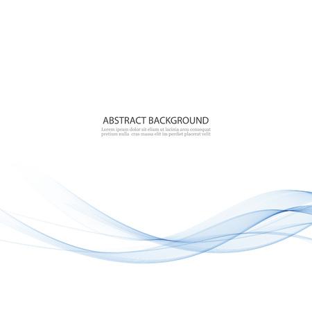 Abstract vector background, blue waved lines for brochure, website design. Transparent wave.Vector EPS10