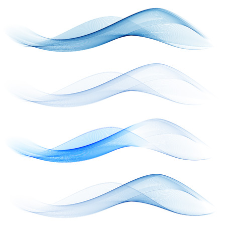 Set of abstract blue waves. Vector EPS 10.Abstract waves background Çizim