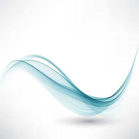 Elegant blue wave background design Transparent,smooth waves Vetores