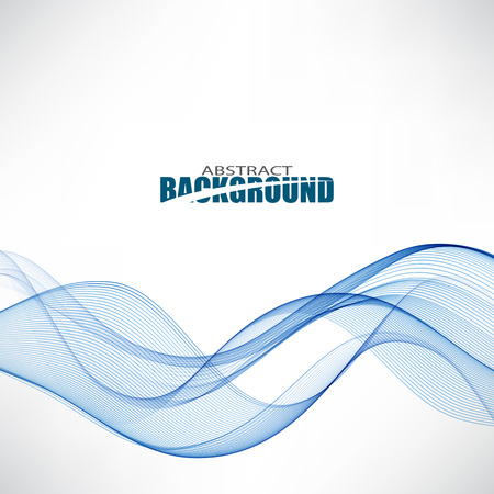 Fluxo de ondas azuis. Onda de fundo resumo. As ondas acesas fluem. Ilustración de vector