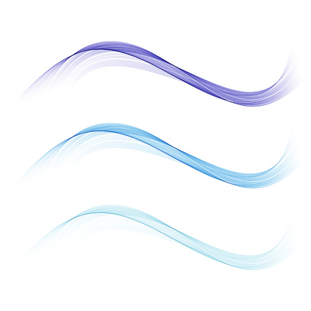 Transparent,smooth,blue waves.Abstract waves set