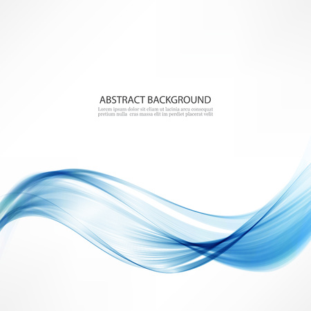Abstract vector background.Waves and a blue line.Abstract design element wave smoke Çizim