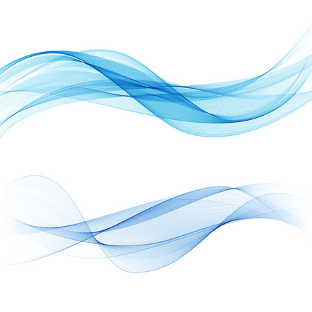 Blue transparent wave Abstract background vector water wave Ilustração