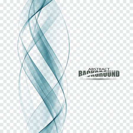 Smooth blue abstract water wave Vector abstract background
