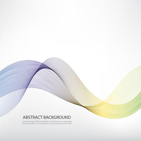 Abstract wave vector background, rainbow waved lines for brochure, website, flyer design. Spectrum wave. Rainbow color. Smoky lines