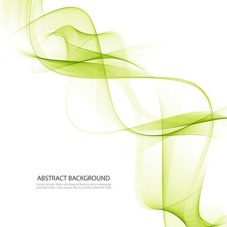 Transparent green waves Illustration
