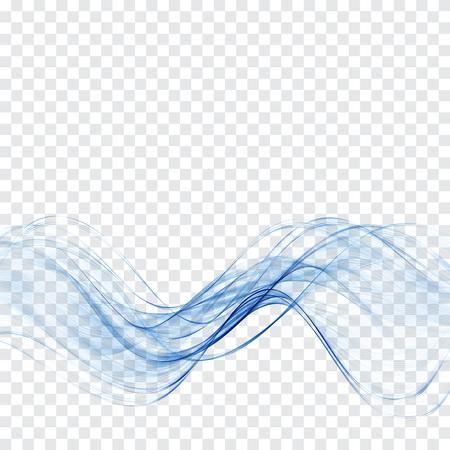 透明な青い波抽象波背景  イラスト・ベクター素材