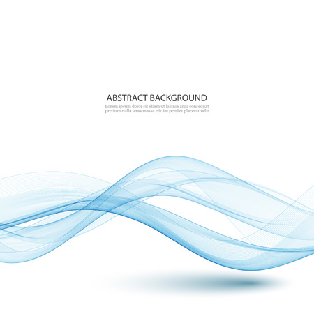 Abstract color wave design element. Blue wave. 矢量图像