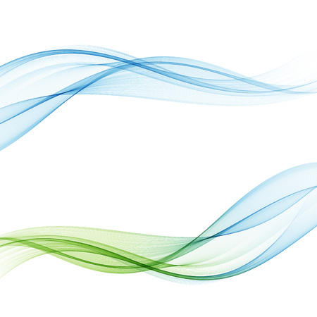 Bright fresh speed mild spring light waves collection. Abstract web smooth mild divider lines - fashion headers or footers.