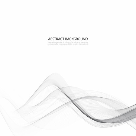 Elegant high-tech swoosh wave stream background. abstract smooth gray modern Graphic soft card template. Vector illustration