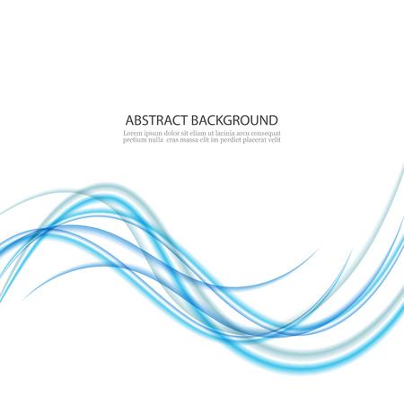 Abstract background, blue waved lines for brochure, website, flyer design. Transparent smooth wave.