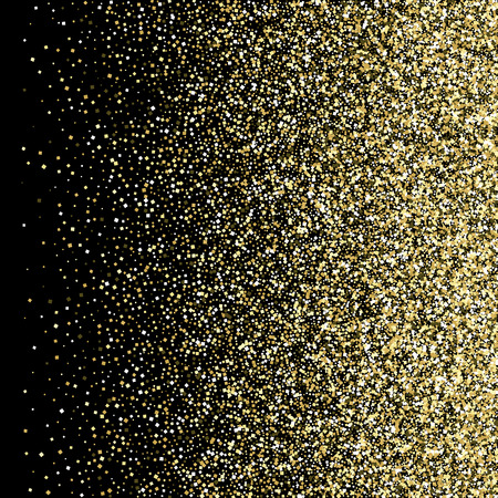 Abstract golden background of shiny particles Gold glitters Vector Illustration
