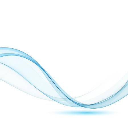 Certificado de swoosh de líneas abstractas modernas azules - fondo de borde de onda suave de velocidad. Ilustración de vector